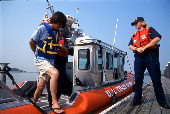 Adult male taken into custody by USCG patrol officersfor boating under the influence