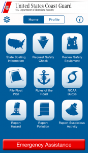 Boating Safety Mobile App home screen